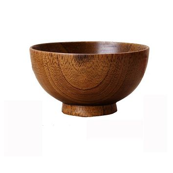 Japanese wooden bamboo bowl