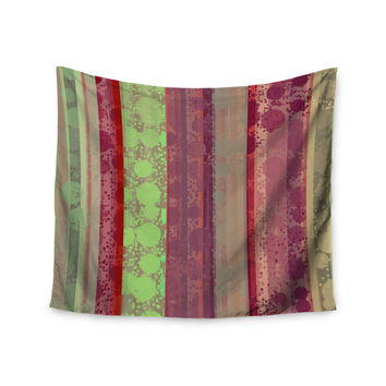 "Cvetelina Todorova ""Magic Carpet"" Green Maroon Wall Tapestry"