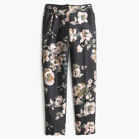 J.Crew Womens Collection Cropped Pant In Painterly Floral