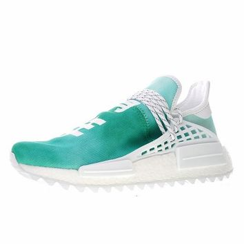 "Pharrell x adidas NMD Hu HOLI ""China Exclusive"" ""Green"" Running Sneaker F99760"