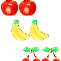 FRUIT BASKET 3 PACK EARRING