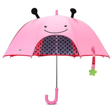 Free Shipping 3 color sale 3D Cute Ear Cartoon Umbrella for kids girl umbrella children baby Colorful umbrella with bow