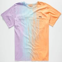 Mowgli Surf Sherbert Mens Pocket Tee Multi  In Sizes