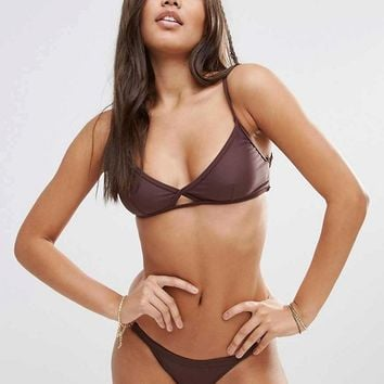 Somedays Lovin Chocolate Cami Bikini at asos.com