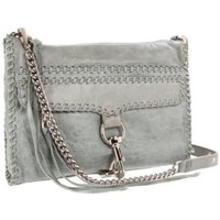 Rebecca Minkoff Mac Whipstitch Silver H/W  Clutch - designer shoes, handbags, jewelry, watches, and fashion accessories | endless.com
