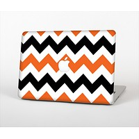 The Orange & Black Chevron Pattern Skin Set for the Apple MacBook Air 13""