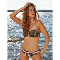 Wilderness Dreams Pink-Belted Camo Swim Bottom