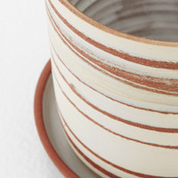 Totokaelo - Helen Levi Red Clay / White Desert Planter with Saucer - $115.00