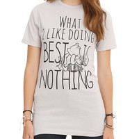 Disney Winnie The Pooh Doing Nothing Girls T-Shirt