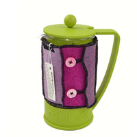 Bodum Cover in Upcycled Wool - French Press Coffee Cozy - Pink Fuchsia Mauve Lilac