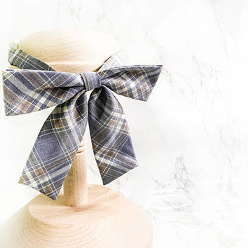 Parisian Style Women Pastel Purple Plaid Bow tie, Poetry Women Bow Ties,Chic Purple Bow Tie, Girls Bow Ties, Ladies Bow Ties, girls bow ties