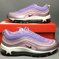 NIKE AIR MAX 97 2018 Men's and Women's Trendy Full Palm Sports Running Shoes F-CSXY pink