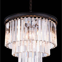 Metro - Small Orb Crystal Chandelier  (6 Light Modern Hanging Crystal Chandelier) - 2200D20