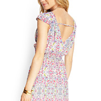 Mirrored Surplice Floral Dress
