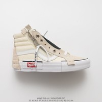 Off-White x Vans Vault Sk8-Hi Beige White Sneakers - Best Deal Online