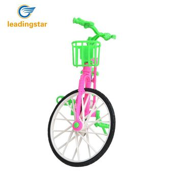 LeadingStar Plastic Green  Detachable Bike Toy Bicycle With Basket For Barbie Doll Great Gift Toys For Children Hot Selling