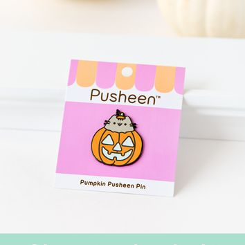 Pumpkin Pusheen pin