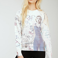 Graffitied Marilyn Monroe Sweatshirt