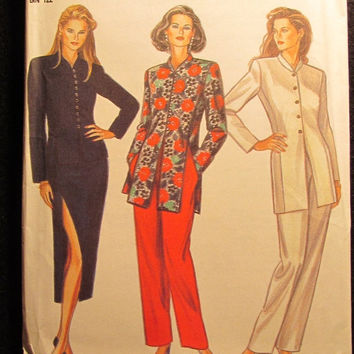 Sale Uncut Simplicity New Look Sewing Pattern, 6141! 8-18 Small/Medium/Large/Women's/Misses Button up Blouse/tops/Shirts/Long Sleeve