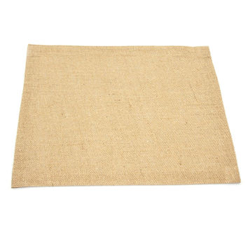 Burlap Fine Table Placemat Sewn-edge, 17-inch