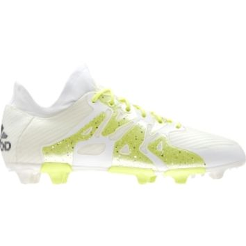 adidas Women's X 15.1 FG/AG Soccer Cleats - White/Volt | DICK'S Sporting Goods