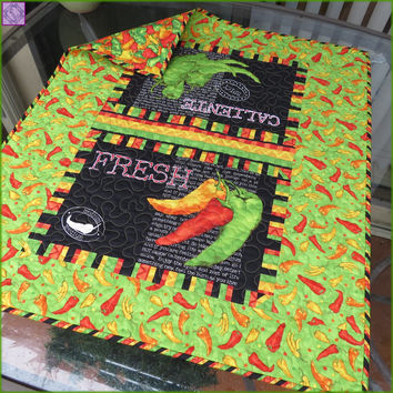 Caliente Peppers Table Topper Lime 759