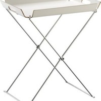 White Formosa Tray Table