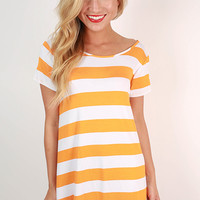 Southern Stripes Tunic in Apricot