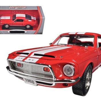 1968 Ford Shelby Mustang GT500KR Red 1-18 Diecast Car Model by Road Signature