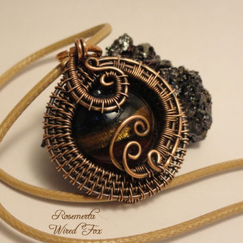 Wire Wrapped 'Rosemerta' OOAK Handcrafted | The Wired Fox