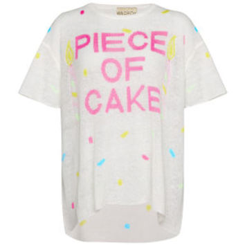 WILDFOX WOMEN'S PIECE OF CAKE COBAIN KNIT T-SHIRT - CLEAN WHITE