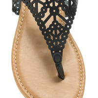 Circle To Line Cut-Out Sandals GoJane.com