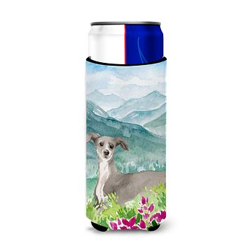 Mountian Flowers Italian Greyhound Michelob Ultra Hugger for slim cans CK1974MUK