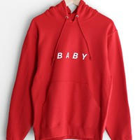 Baby Oversized Hoodie - Red