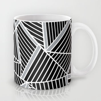 Ab lines Zoom Black and Silver Mug by Project M