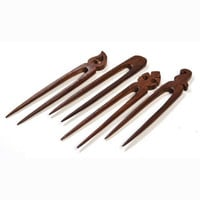 Set of Four Wooden Hair Pins
