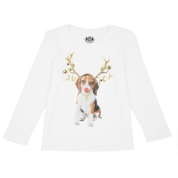 White Girls Juicy Puppy Graphic Long Sleeve Tee by Juicy Couture,