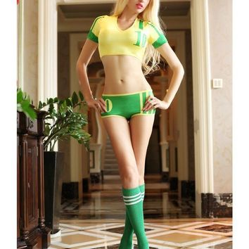 VONE05O MOONIGHT New Cheerleader Costumes Set For Women Sexy Nightclubs Clothing