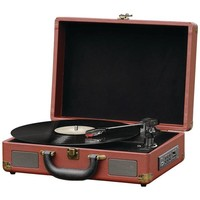 PYLE HOME PVTTBT9BR Bluetooth(R) Vintage Briefcase-Style Turntable Speaker System