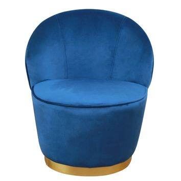 Julia Navy Velvet Junior Chair