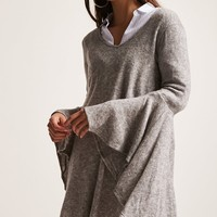 Bell-Sleeve Mini Dress
