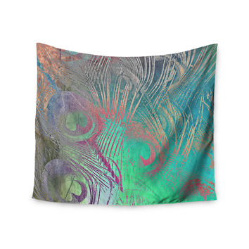"Alison Coxon ""Indian Summer"" Purple Teal Abstract Wall Tapestry"