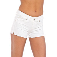 Seven7 Womens Denim Embroidered Cutoff Shorts