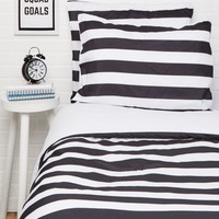 Full/Queen Black Striped 3-Piece Comforter Set | Comforter Sets | rue21