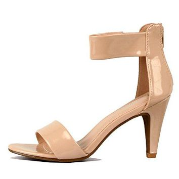 Guilty Heart | Womenrsquos Ankle Strap Open Toe Comfortable High Heels | Dress Wedding Party Heeled Sandals