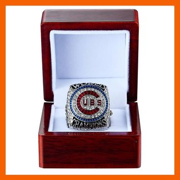 2016 CHICAGO CUBS WORLD SERIES CHAMPIONSHIP RING BRYANT WITH NUMBER 17 REPLICA RIING US SIZE 8 9 10 11 12 13 14 AVAILABLE