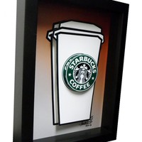 Starbucks 3D Pop Art - Handmade in the USA