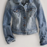 AEO Women's Denim Jacket (Medium Rinse)