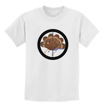 Turkey Trouble - Thanksgiving Funny Childrens T-Shirt