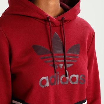 DCCKSP2 Women's Adidas ADIBREAK Burgundy Top Sweater Pullover Sweatshirt Hoodie
